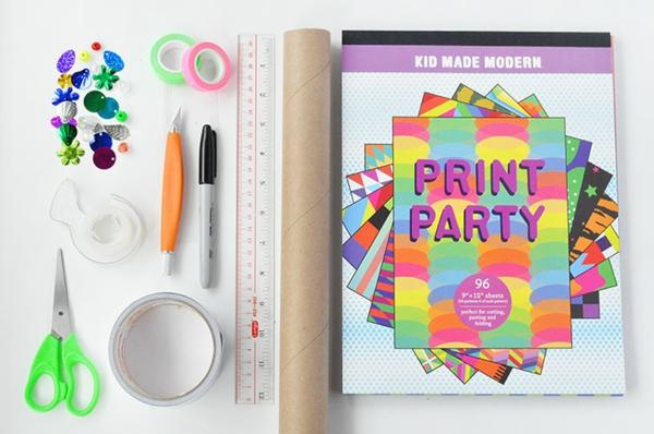 Kaleidoskop basteln DIY Projekte Basteln mit Kindern Materialien