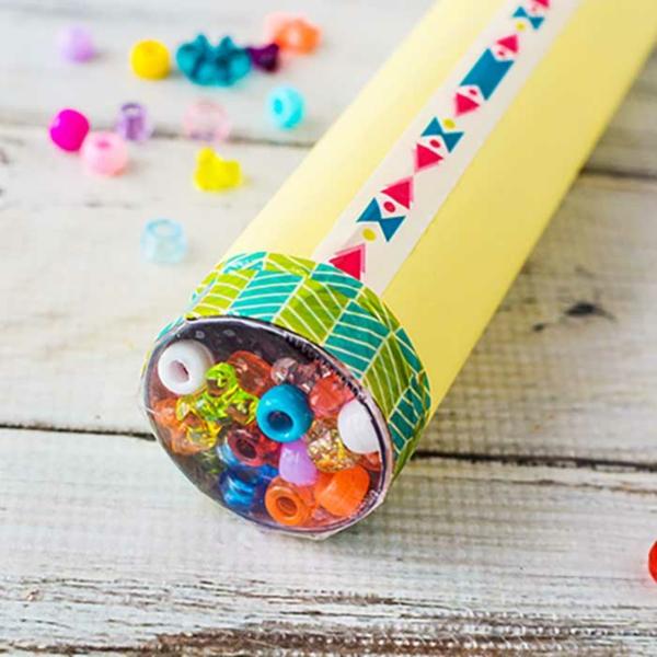 Kaleidoskop basteln DIY Projekte Basteln mit Kindern