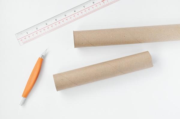 Kaleidoskop basteln Handtuchpapierrollen Basteln mit Kindern