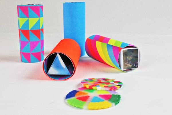 Kaleidoskop selber basteln Basteln mit Kindern Schritt für Schritt