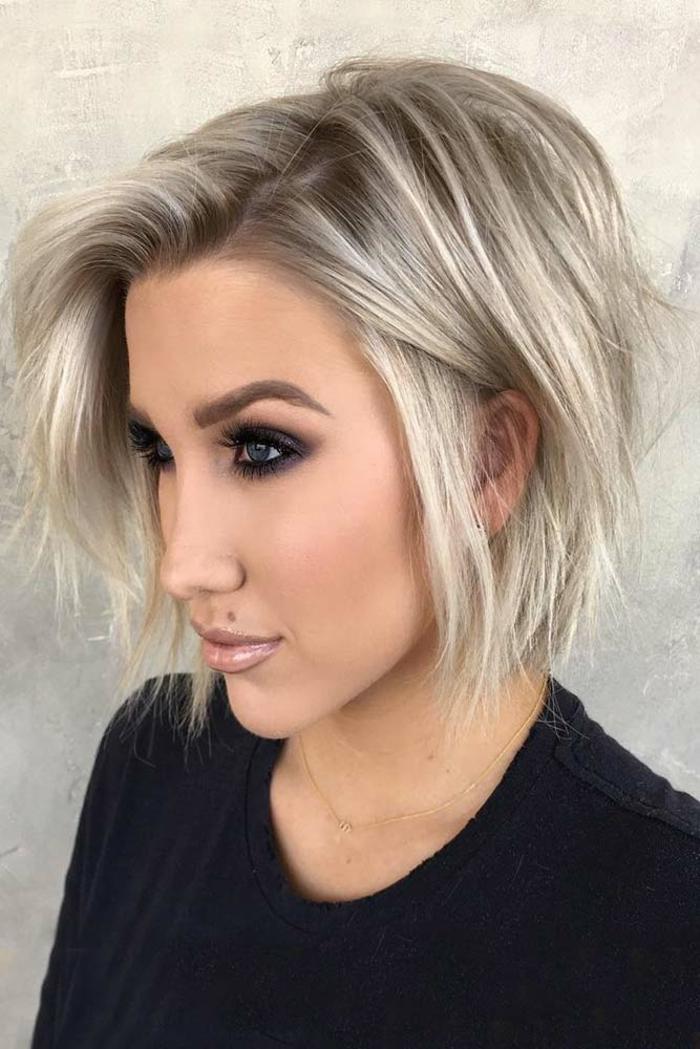 Kurzhaarfrisuren für feines Haar Bobschnitt ausgedünnt