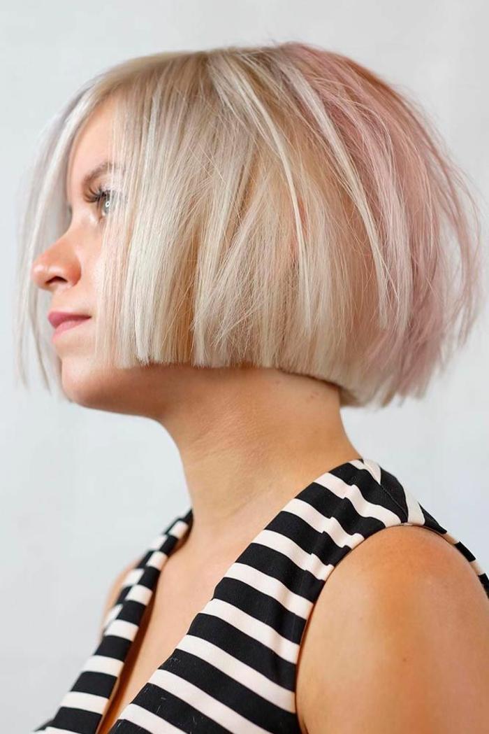 Kurzhaarfrisuren für feines Haar Bobschnitt bageschniten