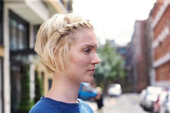 Kurzhaarfrisuren für feines Haar Bobschnitt blond