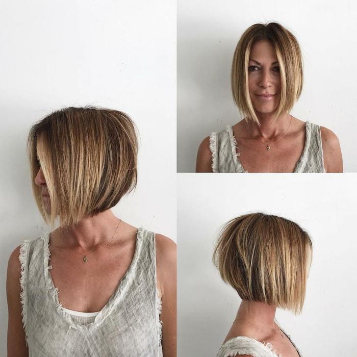 Kurzhaarfrisuren für feines Haar Bobschnitt frech