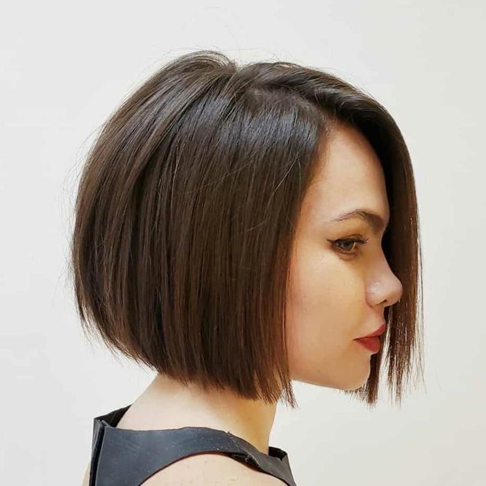 Kurzhaarfrisuren für feines Haar Bobschnitt hinten kurz