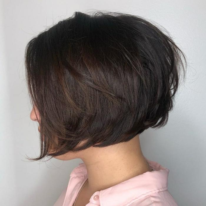Kurzhaarfrisuren für feines Haar Bobschnitt mittellang braun