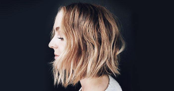 Kurzhaarfrisuren für feines Haar Bobschnitt vorn lang
