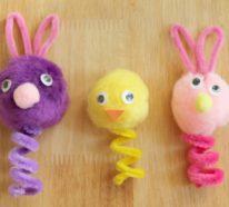 Osterbasteleien mit Pfeifenputzer und lustige DIY Ideen