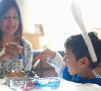 42 Ostereier bemalen Ideen und Beispiele, die kindgerecht sind
