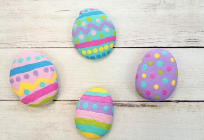 Ostereier bemalen Ideen kindgerecht bunte eier