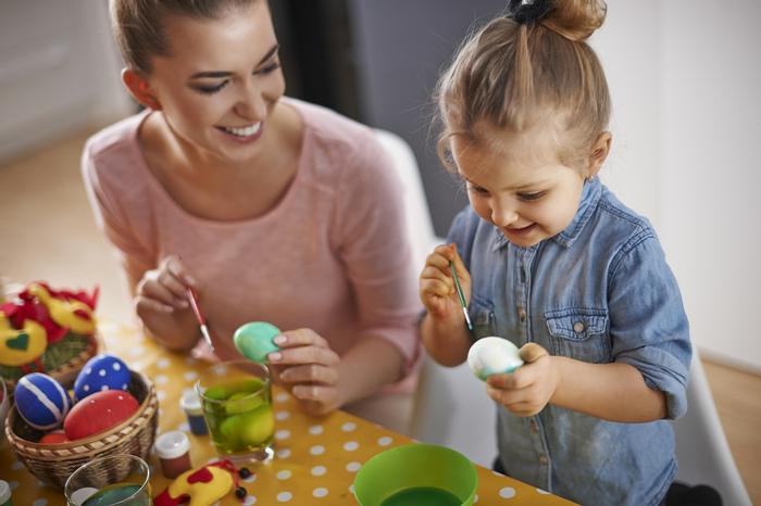 Ostereier bemalen Ideen kindgerecht kinderfreude