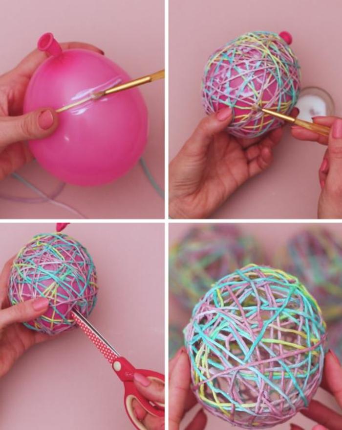 Ostergirlande basteln nachhaltig leben basteln mit luftballon anleitung