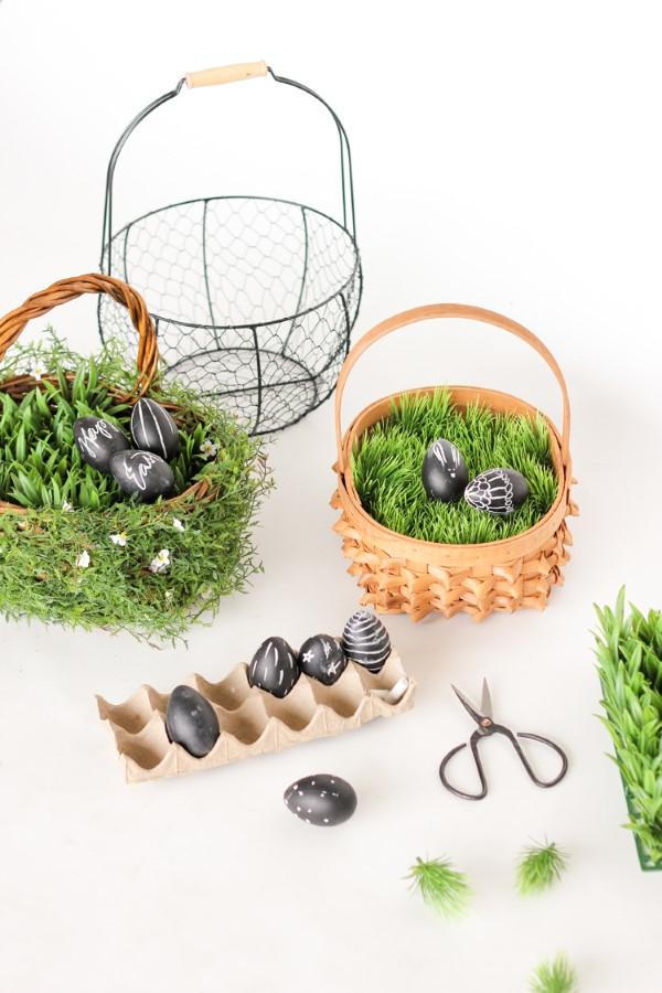 Osterkörbchen basteln – kreative Ideen, festliche Tipps und kinderleichte Anleitung zum Nachmachen kunstgras korb ideen diy
