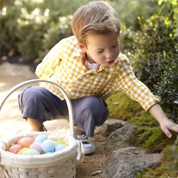 Osterkörbchen basteln – kreative Ideen, festliche Tipps und kinderleichte Anleitung zum Nachmachen ostereiersuche kinder garten