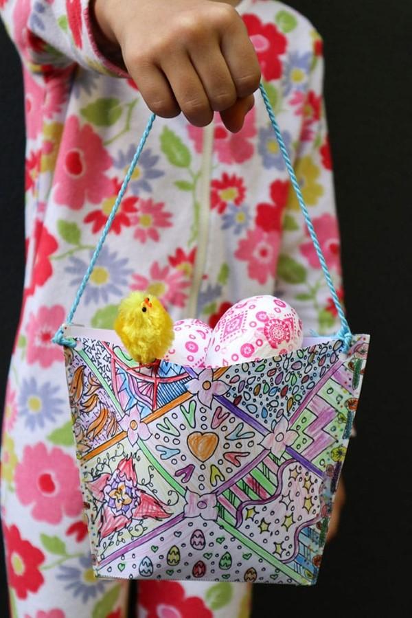 Osterkörbchen basteln – kreative Ideen, festliche Tipps und kinderleichte Anleitung zum Nachmachen papier korb bunt diy