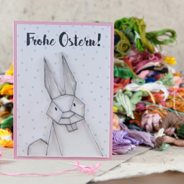 Osterkarten basteln Grusskarte Bastelideen Basteln mit Kindern