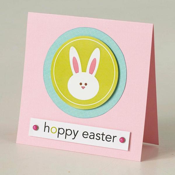 Osterkarten basteln Grusskarte Basteln mit Kindern zu Ostern