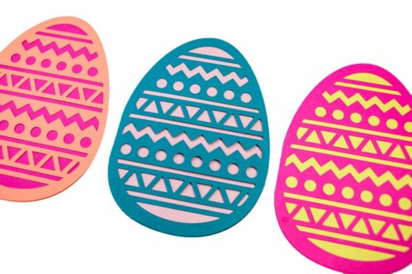 Osterkarten basteln Grusskarte Ei selber machen Basteln mit Kindern