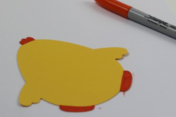 Osterkarten basteln Osterküken Anleitung