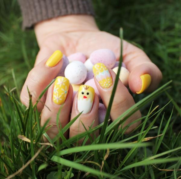 Pastell Nägel – Ideen für eine stilvolle Frühlings- und Oster-Maniküre gelbe küken motive diy