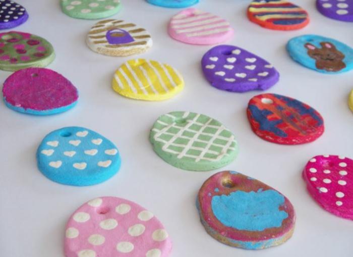 Salzteig Ostern Ideen basteln mit Kindern zu ostereier