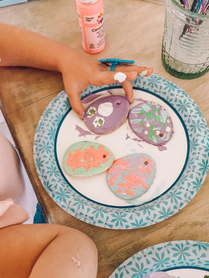 Salzteig Ostern Ideen basteln mit Kindern zu ostern artwork