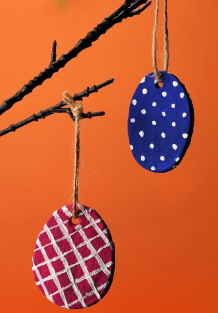 Salzteig Ostern Ideen basteln mit Kindern zu ostern deko ostern