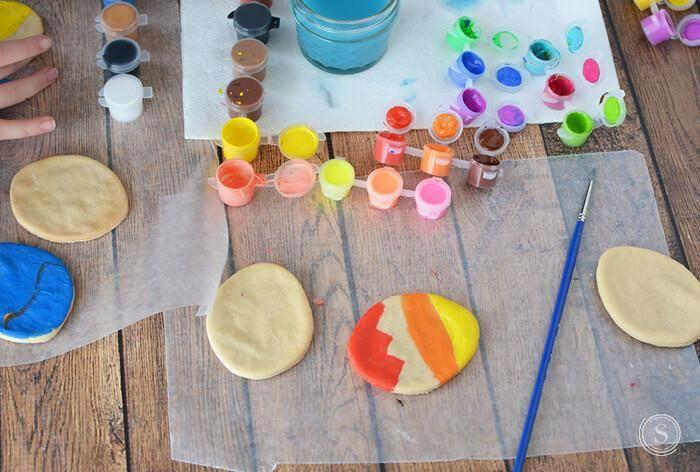 Salzteig Ostern Ideen basteln mit Kindern zu ostern dekorieren ostern