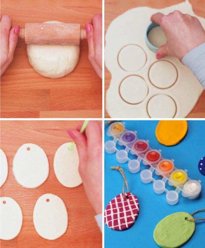 Salzteig Ostern Ideen basteln mit Kindern zu ostern diy ideen