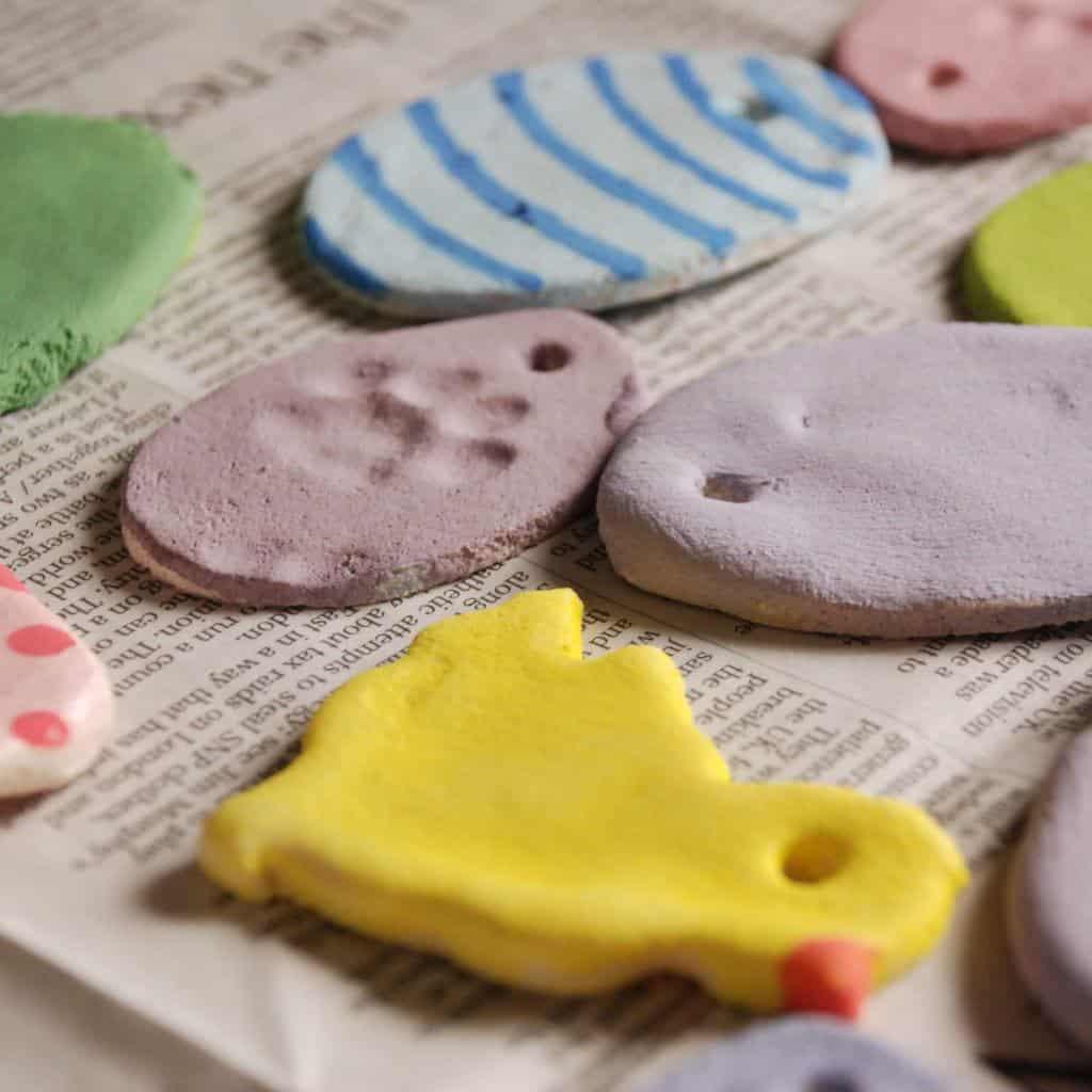 Salzteig Ostern Ideen basteln mit Kindern zu ostern ente