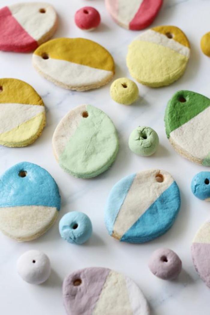 Salzteig Ostern Ideen basteln mit Kindern zu ostern ente1