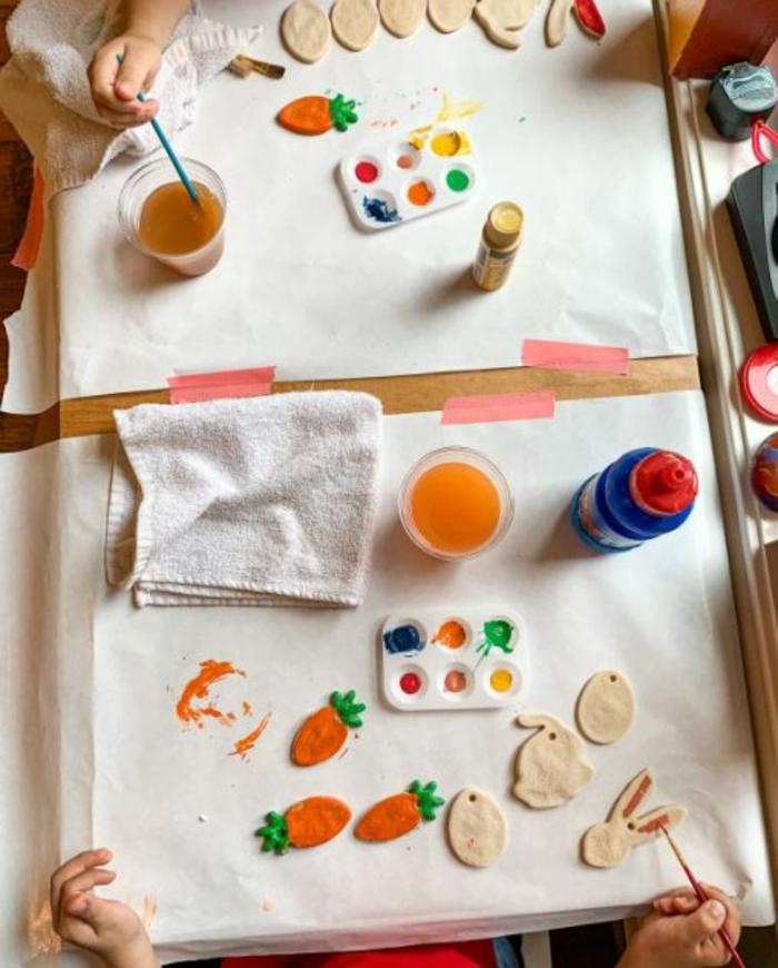 Salzteig Ostern Ideen basteln mit Kindern zu ostern ente3