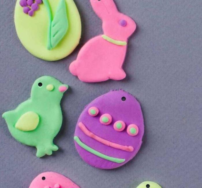 Salzteig Ostern Ideen basteln mit Kindern zu ostern ente4