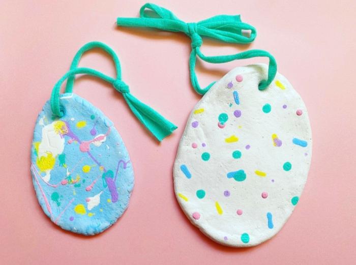 Salzteig Ostern Ideen basteln mit Kindern zu ostern ente5