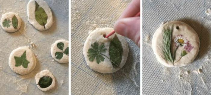 Salzteig Ostern Ideen basteln mit Kindern zu ostern mit naturmaterialien