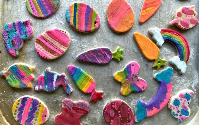 Salzteig Ostern Ideen basteln mit Kindern zu ostern osterdeko