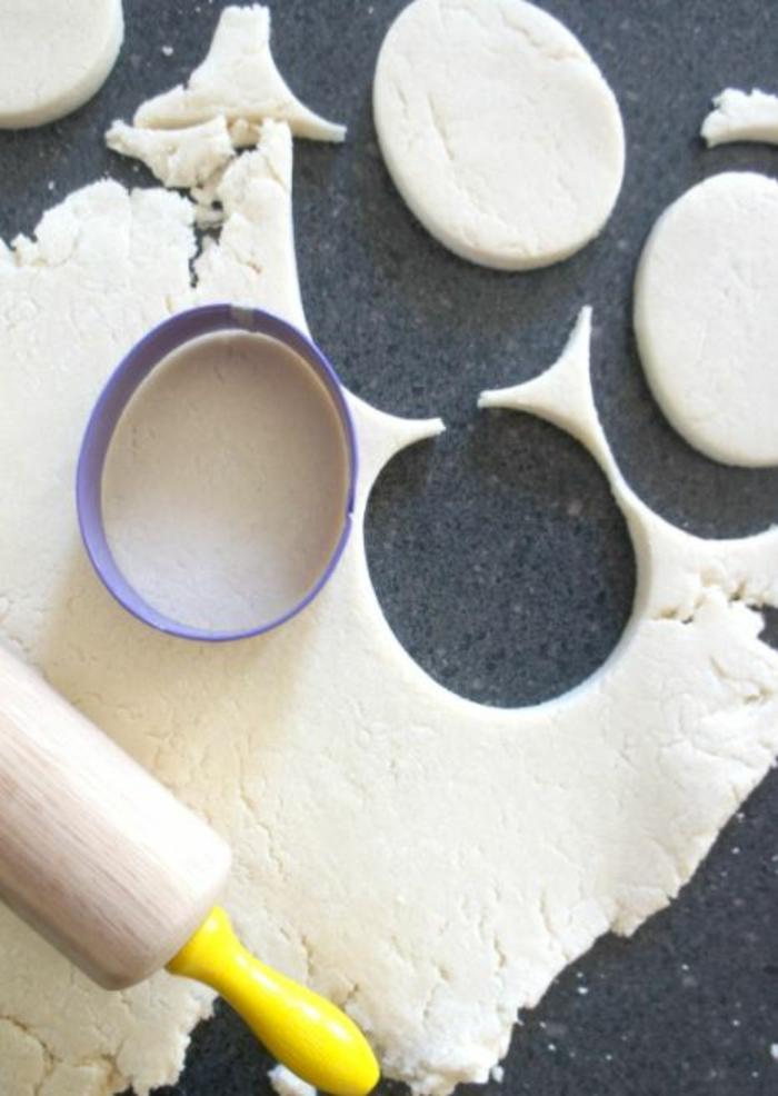 Salzteig Ostern Ideen basteln mit Kindern zu ostern ostereier