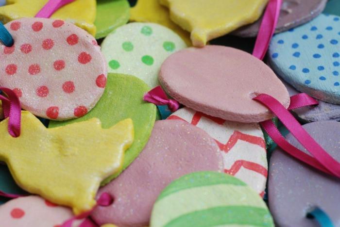 Salzteig Ostern Ideen basteln mit Kindern zu ostern punkte