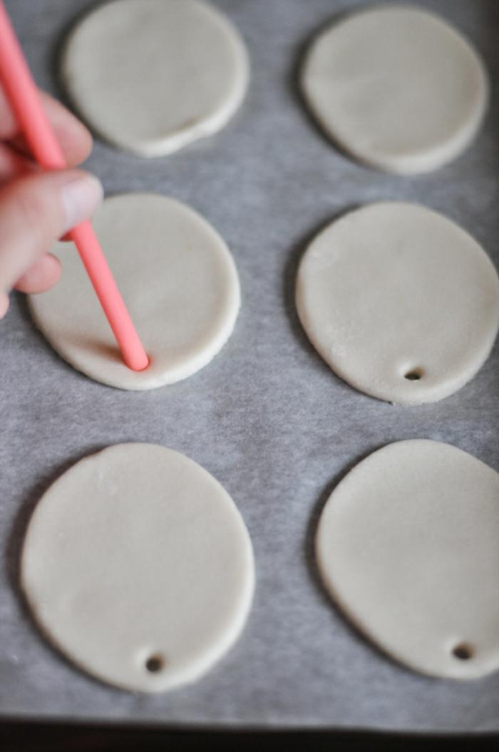 Salzteig Ostern Ideen basteln mit Kindern zu ostern rund