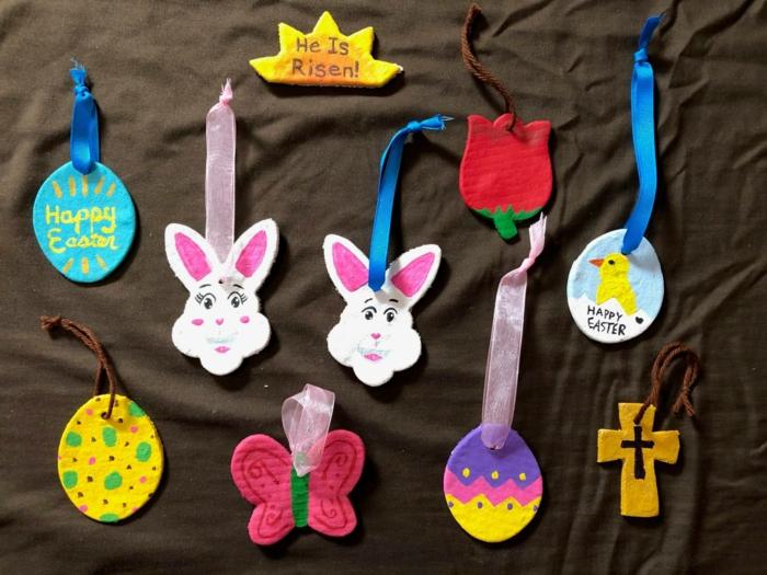 Salzteig Ostern Ideen basteln mit Kindern zu ostern symbolik