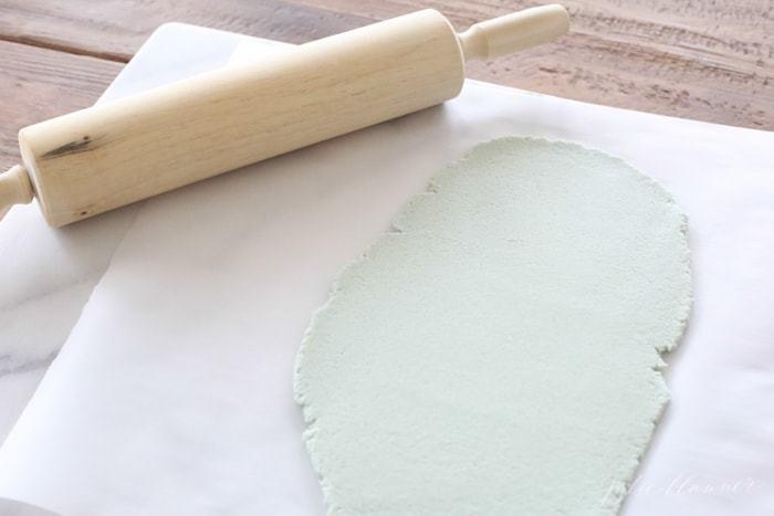 Salzteig Ostern Ideen basteln mit Kindern zu ostern vorlage