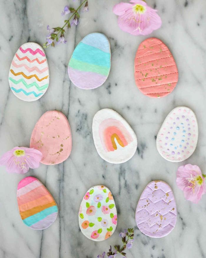 Salzteig Ostern Ideen basteln mit Kindern zu ostern