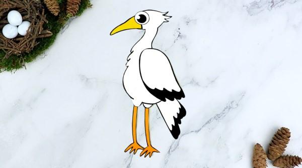 Storch basteln – frische Ideen und Anleitung zum Frühling storch papier deko