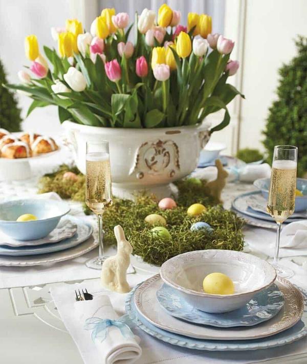 Tischdeko zu Ostern Geschirr Tisch eindecken ´Tipps Ostern