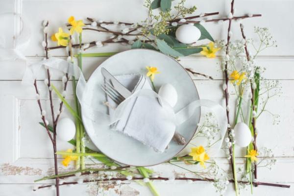 Tischdeko zu Ostern Ostertisch Frühlingsdeko ´Tipps Ostern