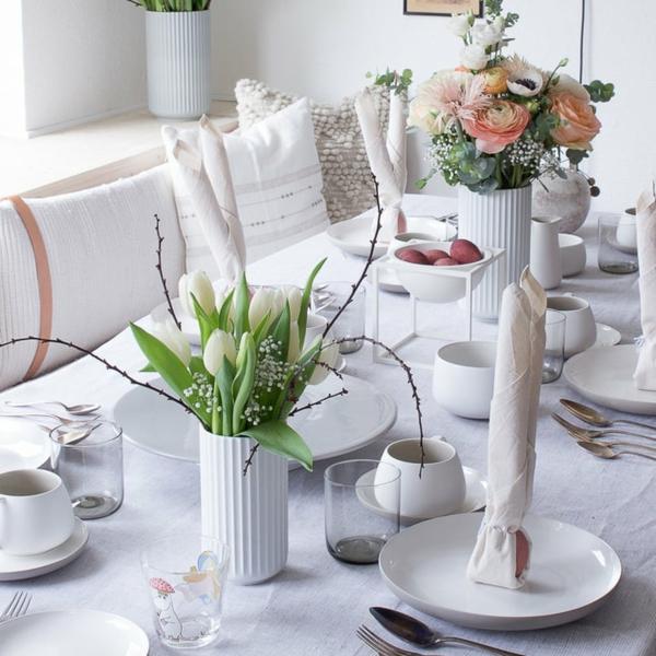 Tischdeko zu Ostern Ostertisch Tisch eindecken ´Tipps Ostern