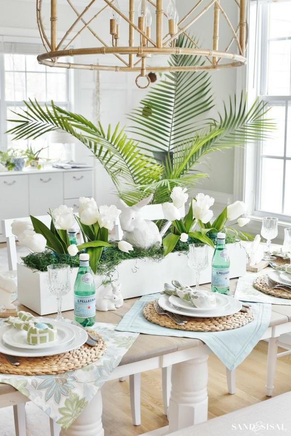 Tischdeko zu Ostern Ostertisch dekorieren