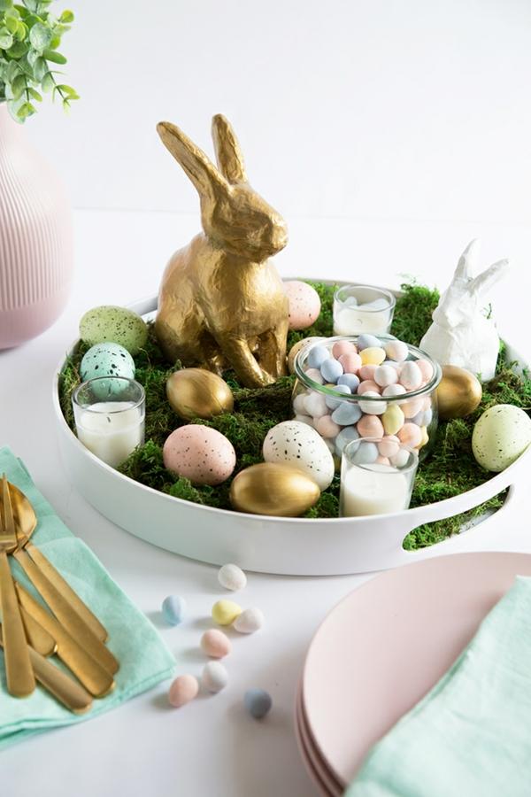 Tischdeko zu Ostern Ostertisch eindecken ´Tipps Ostern