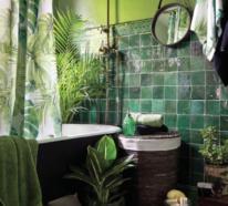 25 Erstaunliche Ideen für tropische Deko im Bad