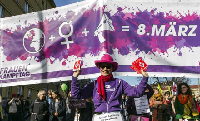 Weltfrauentag am 8.März verschiedene Aktivitäten der Frauen in 26 Ländern offizieller Feiertag